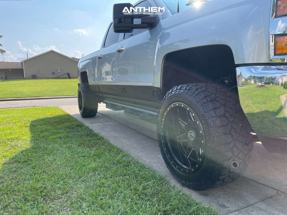 3 2017 Silverado 2500 Hd Chevrolet Cognito Leveling Kit Anthem Off Road Rogue Machined Black