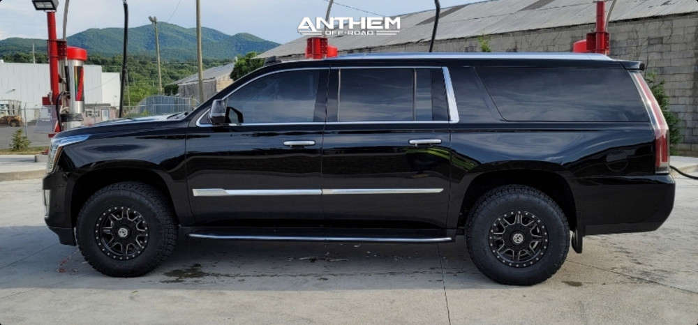 12 2018 Escalade Esv Cadillac Kryptonite Leveling Kit Anthem Off Road Rogue Black
