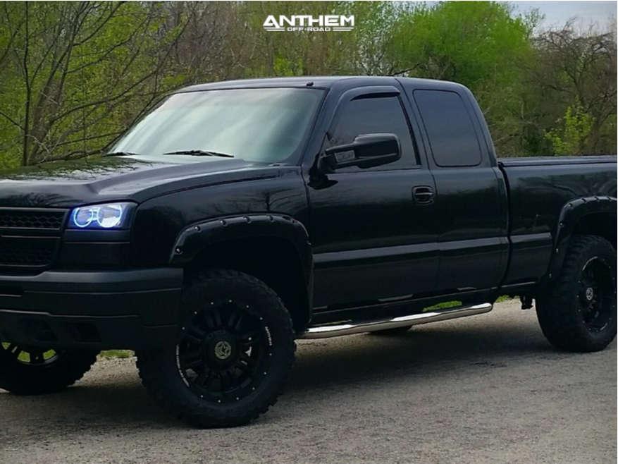 1 2006 Silverado 1500 Chevrolet Rough Country Suspension Lift 3in Anthem Enforcer Black