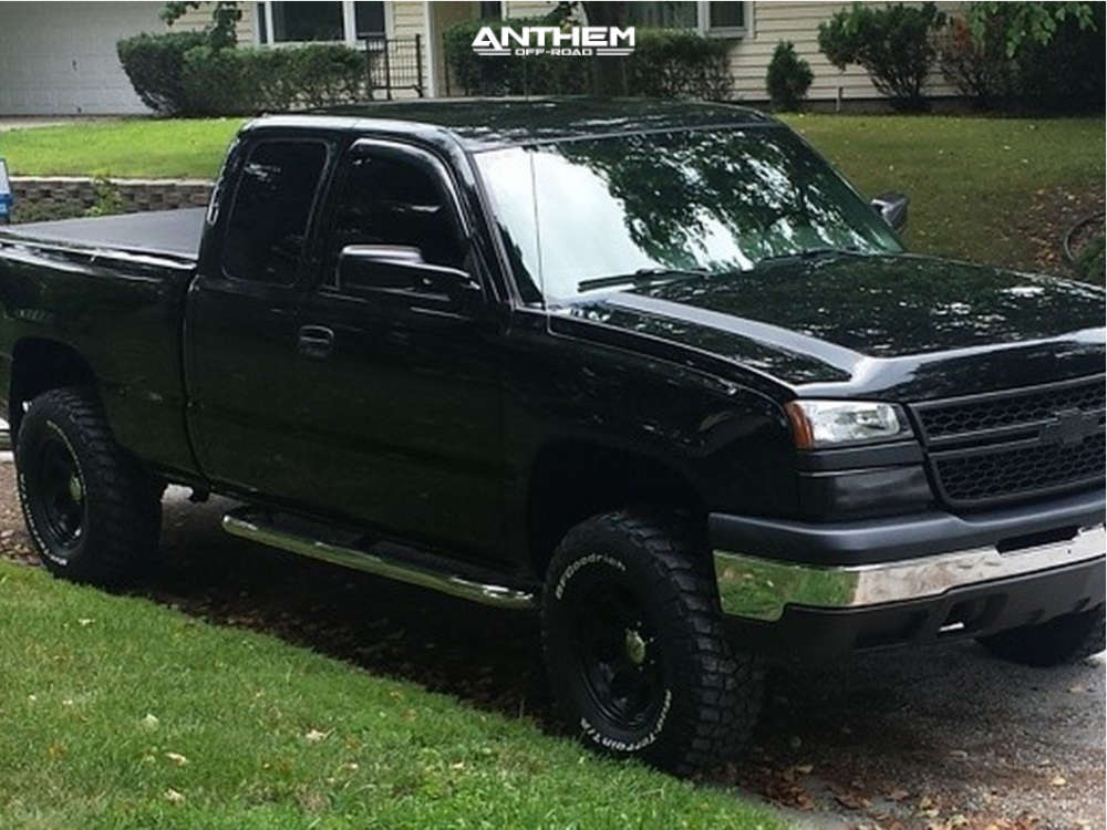 2 2006 Silverado 1500 Chevrolet Rough Country Suspension Lift 3in Anthem Enforcer Black