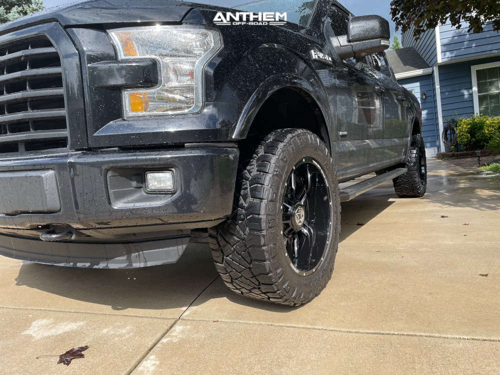 2 2016 F 150 Ford Rough Country Suspension Lift 3in Anthem Off Road Equalizer Machined Black