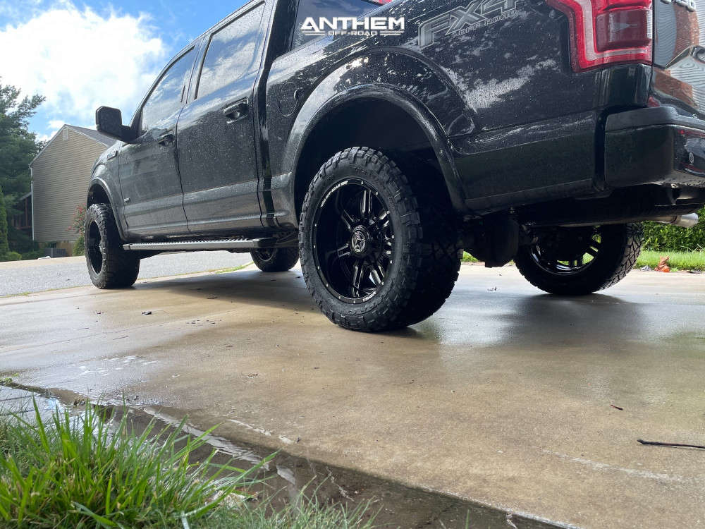 4 2016 F 150 Ford Rough Country Suspension Lift 3in Anthem Off Road Equalizer Machined Black