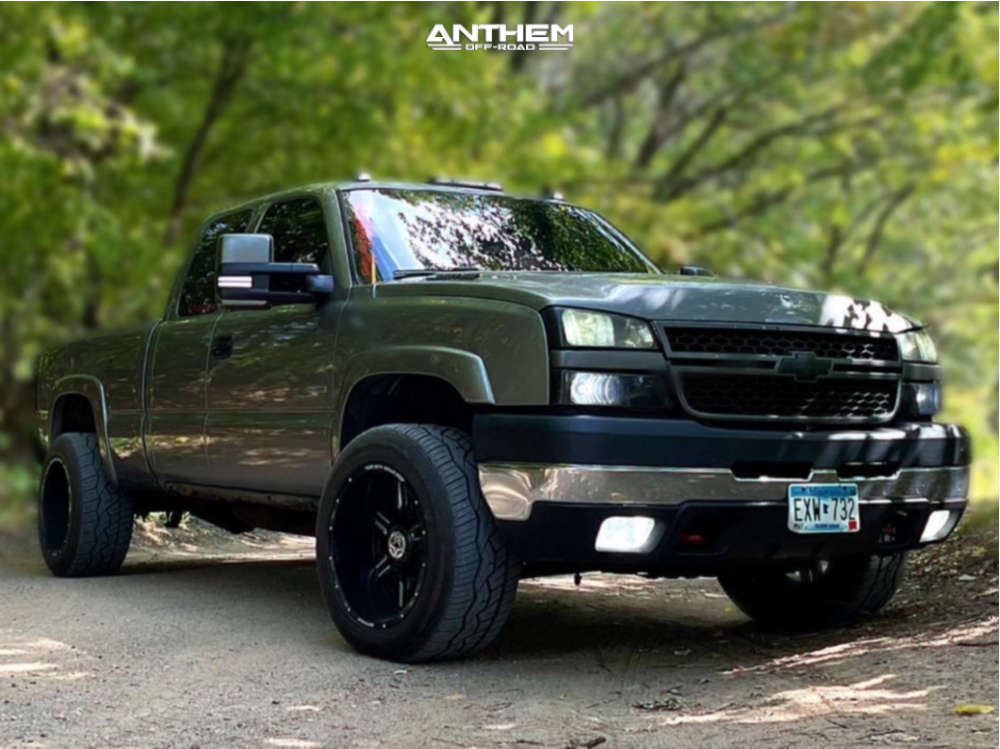 1 2006 Silverado 2500 Hd Chevrolet Stock Air Suspension Anthem Off Road Equalizer Machined Accents