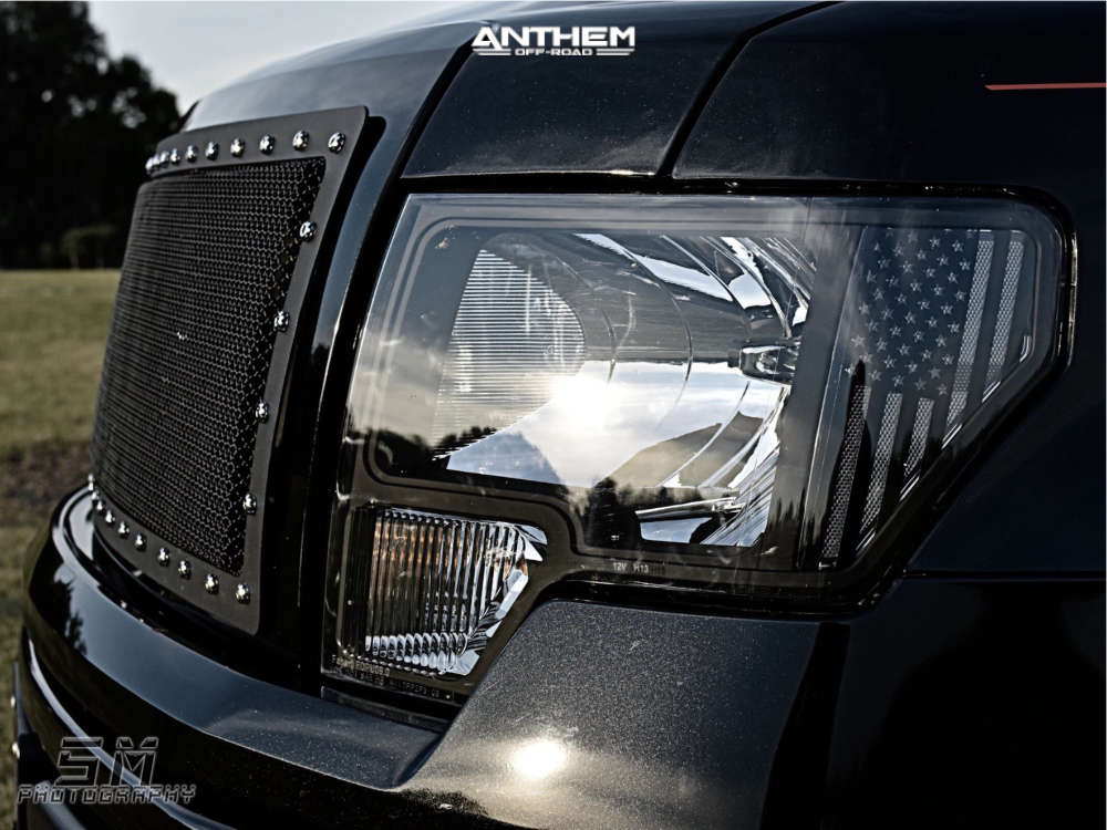 13 2014 F 150 Ford Rough Country Suspension Lift 6in Anthem A751 Black