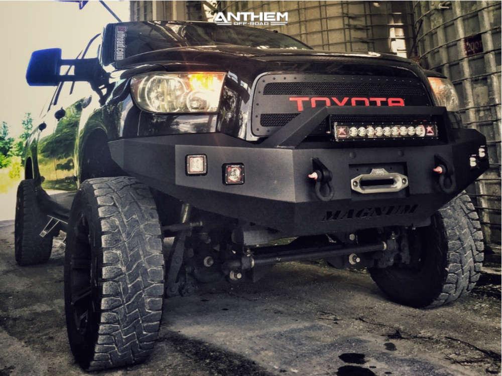 2 2008 Tundra Toyota Zone Suspension Lift 7in Anthem Defender Matte Black