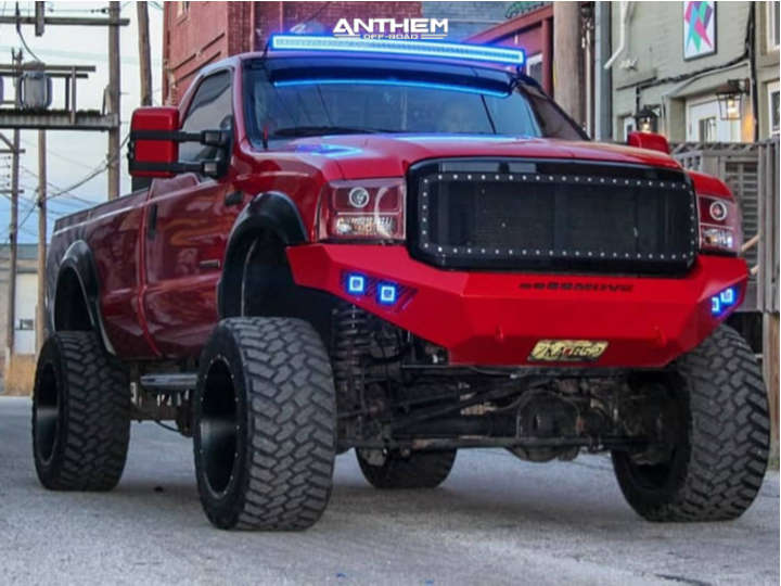 1 2006 F 250 Super Duty Ford Rough Country Suspension Lift 6in Anthem Equalizer Matte Black