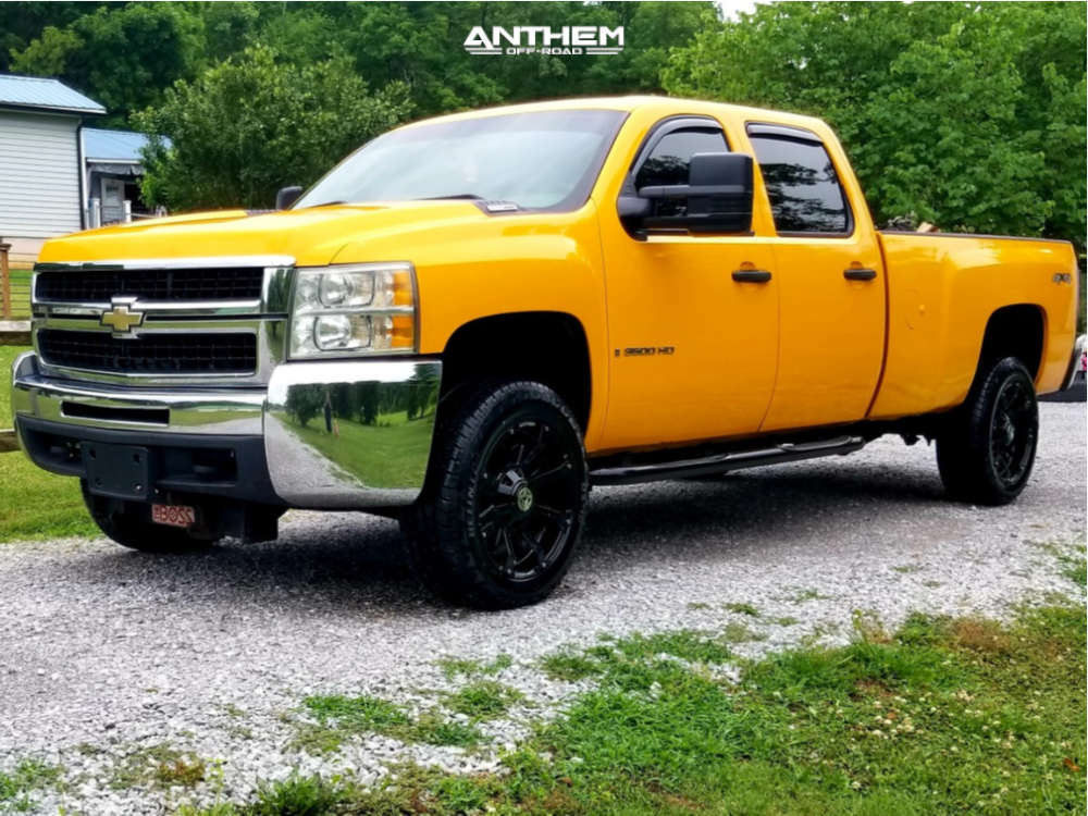 1 2008 Silverado 3500 Hd Chevrolet Stock Leveling Kit Anthem Defender Black
