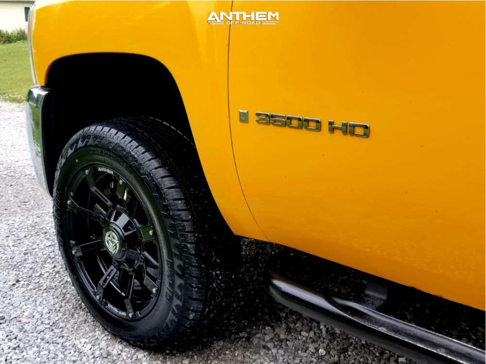 5 2008 Silverado 3500 Hd Chevrolet Stock Leveling Kit Anthem Off Road Defender A711 Black