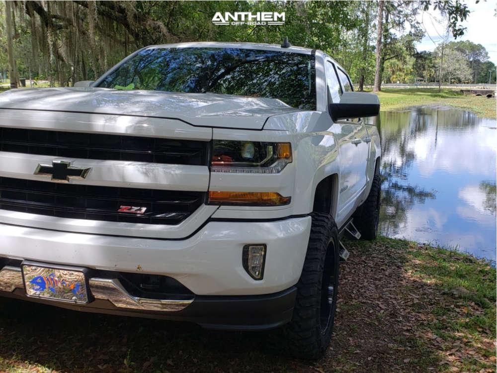 2 2018 Silverado 1500 Chevrolet Rancho Leveling Kit Anthem Equalizer Machined Black