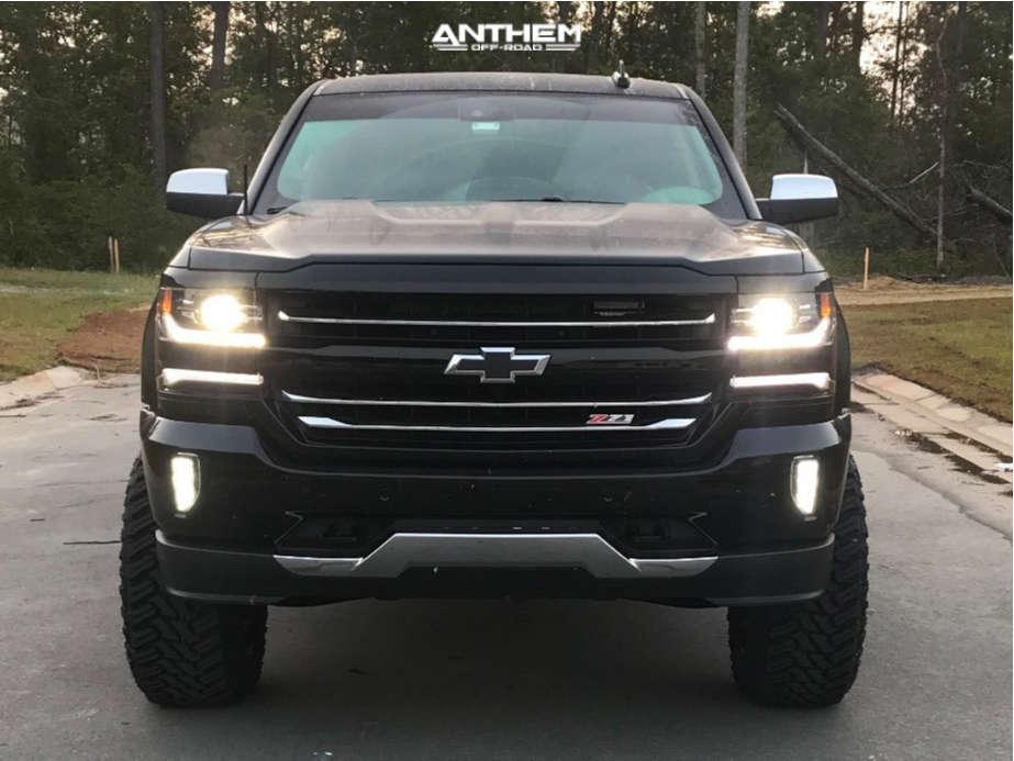 2 2018 Silverado 1500 Chevrolet Rough Country Suspension Lift 7in Anthem Enforcer Black