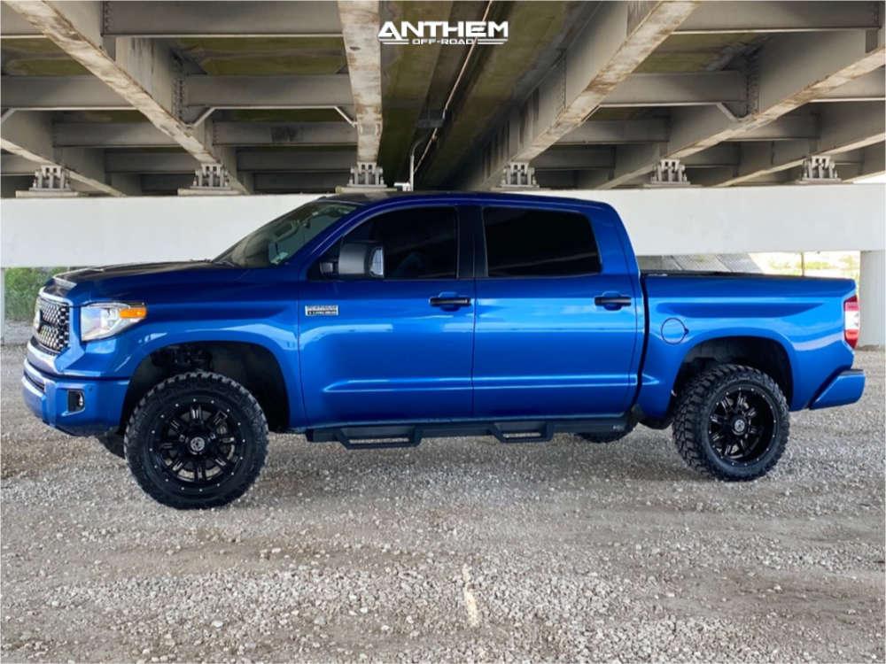 3 2018 Tundra Toyota Readylift Suspension Lift 3in Anthem Off Road Instigator Matte Black