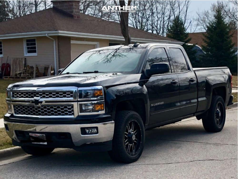 1 2015 Silverado 1500 Chevrolet Rough Country Leveling Kit Anthem Instigator Black