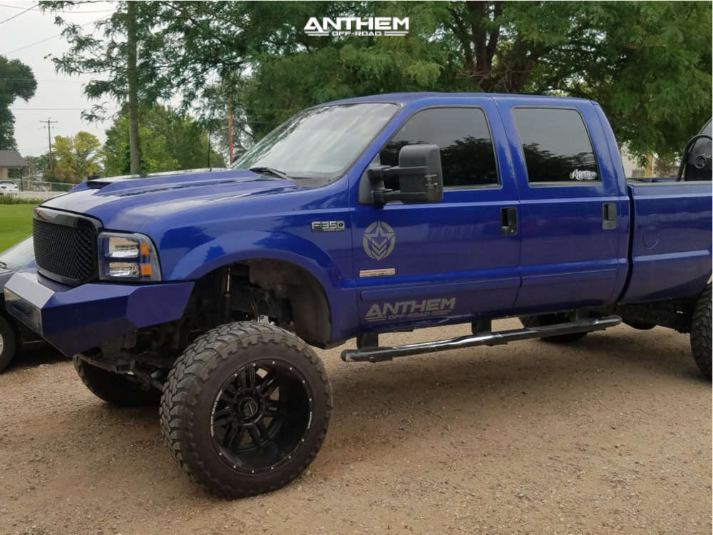 3 2003 F 350 Super Duty Ford Fabtech Suspension Lift 85in Anthem Enforcer Black