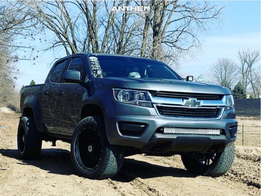 1 2019 Colorado Chevrolet 2 Inch Level Leveling Kit Anthem Off Road Instigator Matte Black