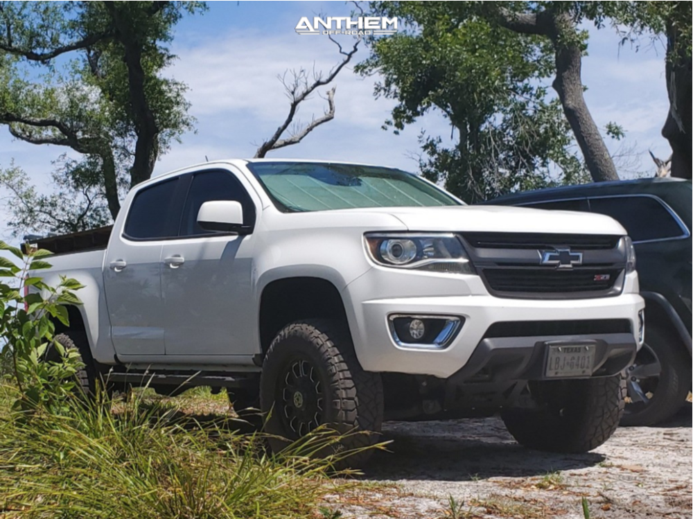 1 2015 Colorado Chevrolet Rough Country Suspension Lift 4in Anthem Off Road Intimidator Machined Accents