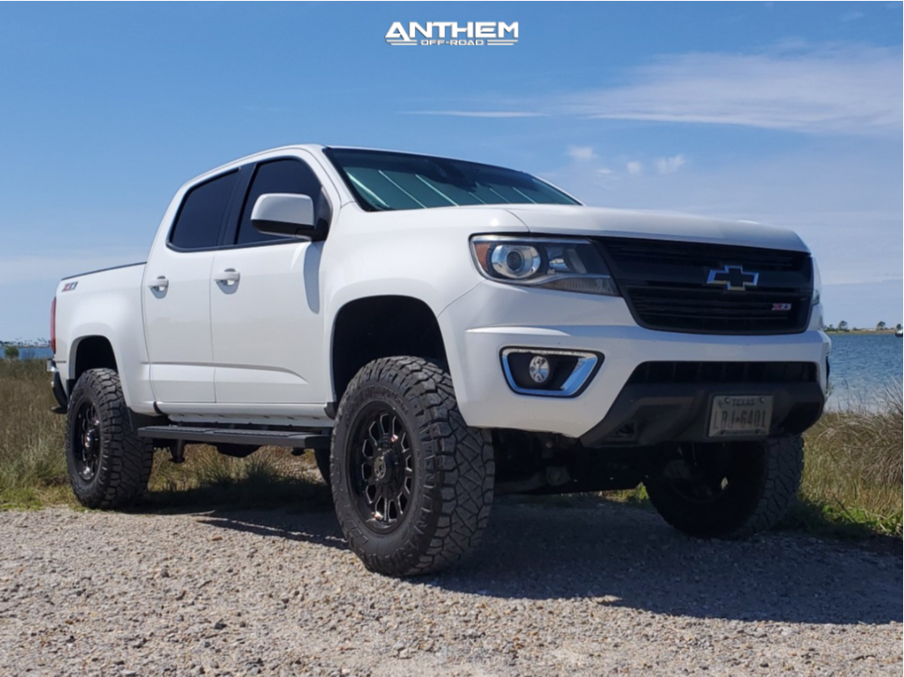 14 2015 Colorado Chevrolet Rough Country Suspension Lift 4in Anthem Off Road Intimidator Machined Accents