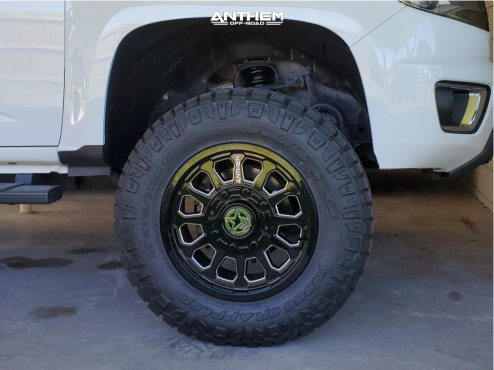 9 2015 Colorado Chevrolet Rough Country Suspension Lift 4in Anthem Off Road Intimidator Machined Accents