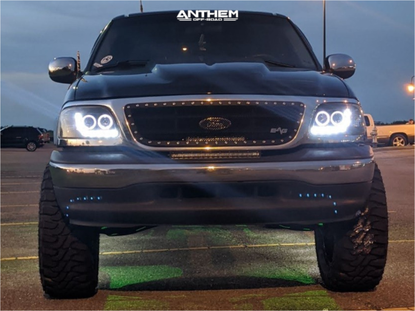 2 2001 F 150 Ford 35 Inch Level With 25 Inch Coil Spacers Suspension Lift 6in Anthem Off Road Avenger Black