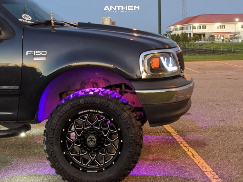 5 2001 F 150 Ford 35 Inch Level With 25 Inch Coil Spacers Suspension Lift 6in Anthem Off Road Avenger Black