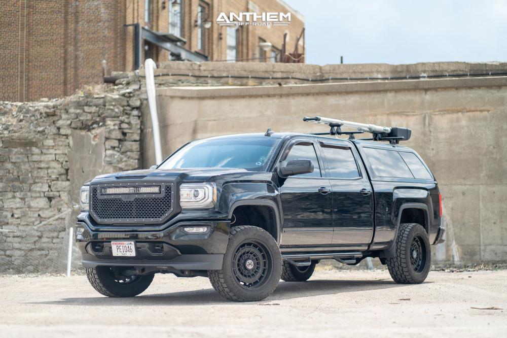 1 2017 Sierra 1500 Gmc Fabtech Suspension Lift 4in Anthem Off Road Viper Matte Black