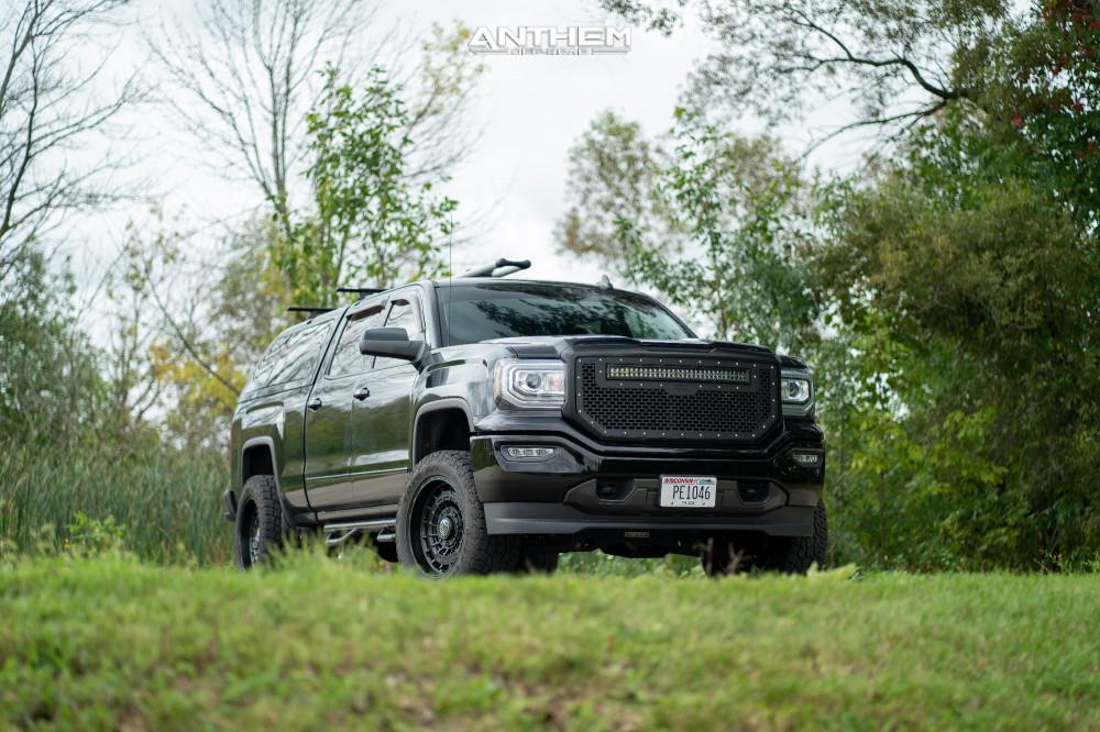 5 2017 Sierra 1500 Gmc Fabtech Suspension Lift 4in Anthem Off Road Viper Matte Black