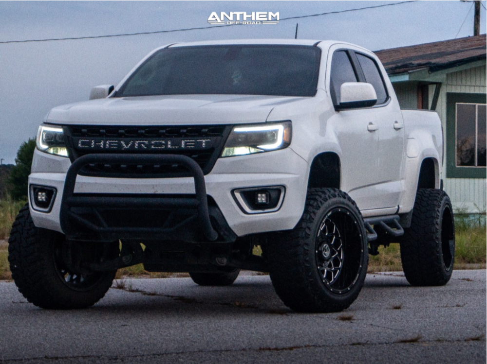 1 2016 Colorado Chevrolet Rough Country Suspension Lift 6in Anthem Off Road Avenger Machined Black