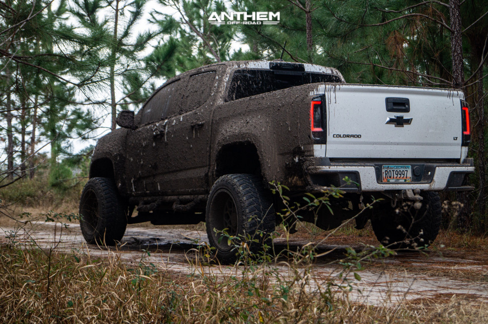11 2016 Colorado Chevrolet Rough Country Suspension Lift 6in Anthem Off Road Avenger Machined Black