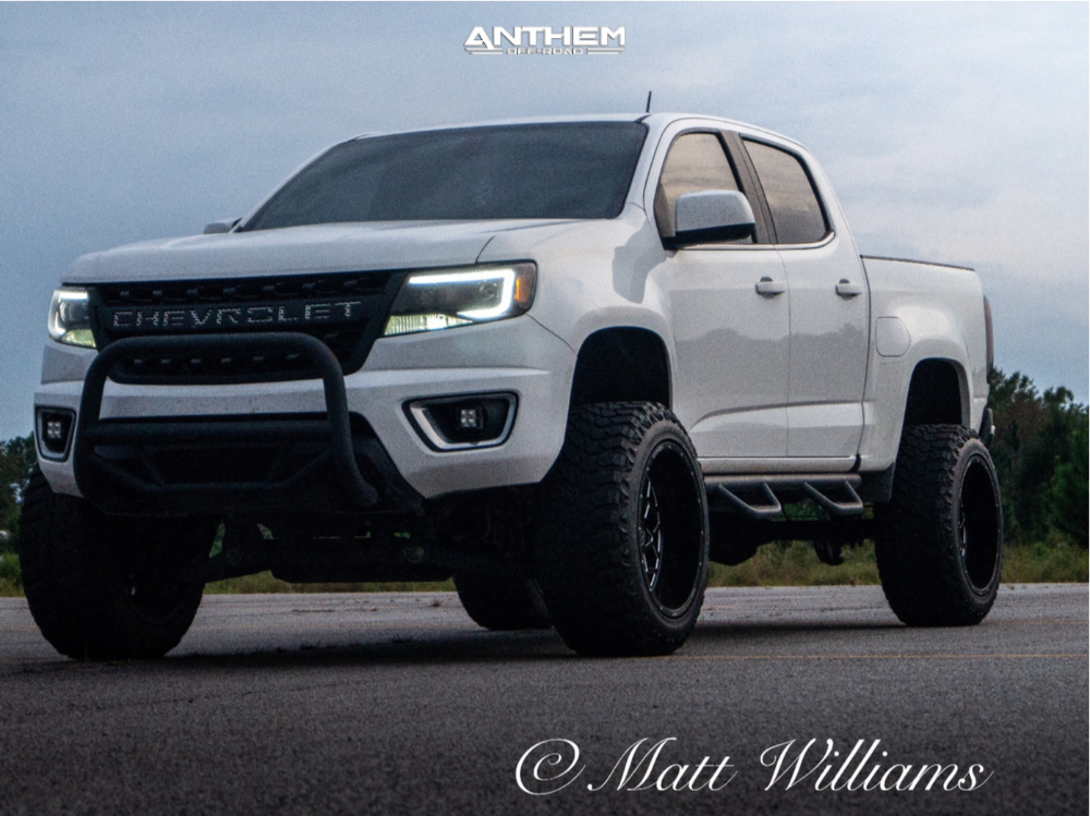 12 2016 Colorado Chevrolet Rough Country Suspension Lift 6in Anthem Off Road Avenger Machined Black