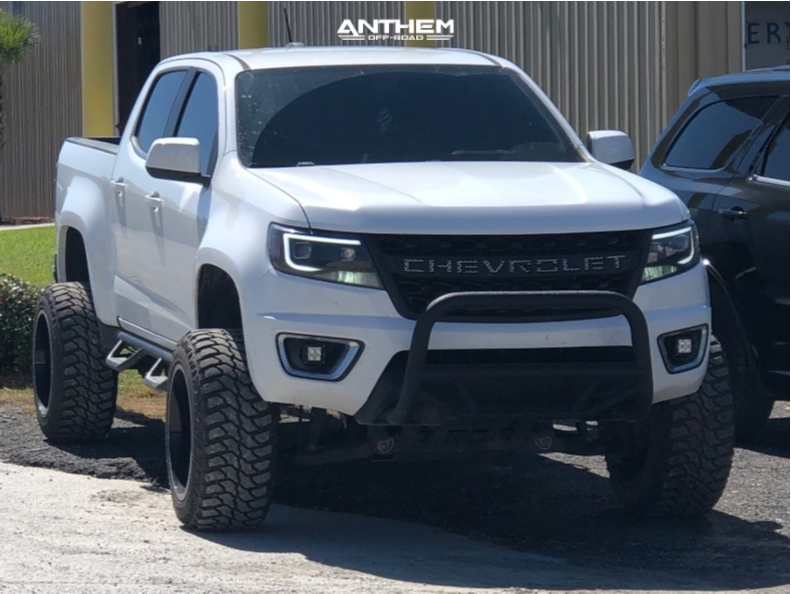 13 2016 Colorado Chevrolet Rough Country Suspension Lift 6in Anthem Off Road Avenger Machined Black