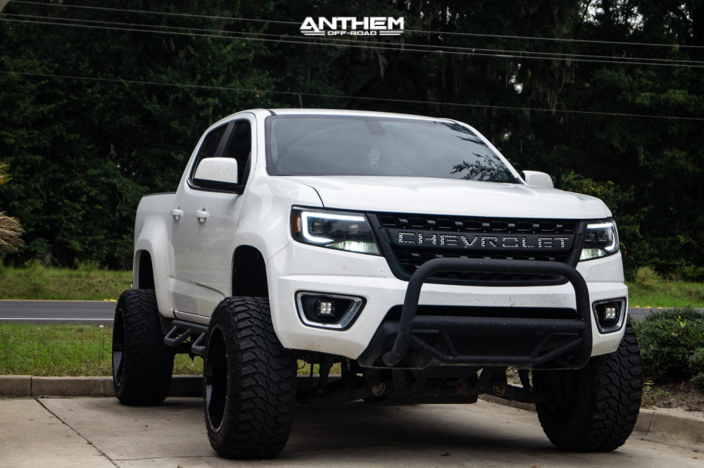 14 2016 Colorado Chevrolet Rough Country Suspension Lift 6in Anthem Off Road Avenger Machined Black