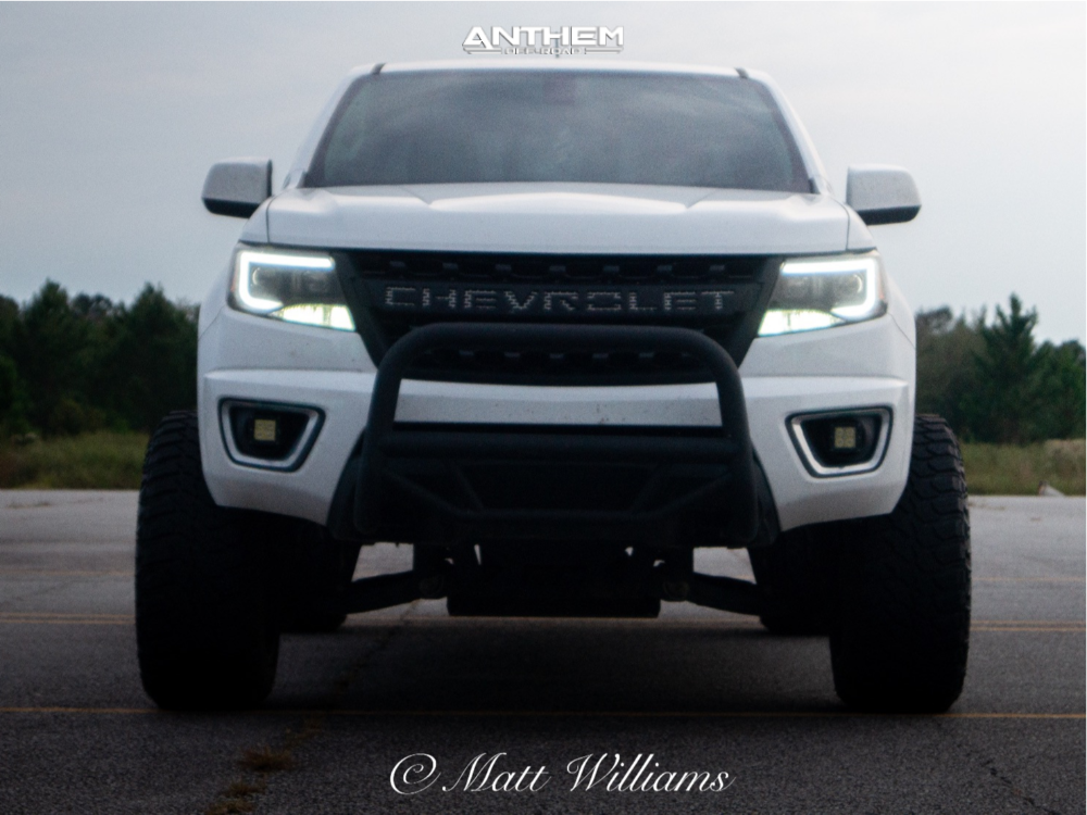 2 2016 Colorado Chevrolet Rough Country Suspension Lift 6in Anthem Off Road Avenger Machined Black