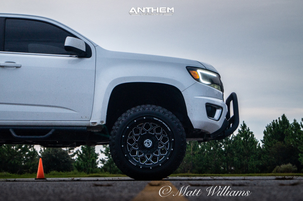 5 2016 Colorado Chevrolet Rough Country Suspension Lift 6in Anthem Off Road Avenger Machined Black