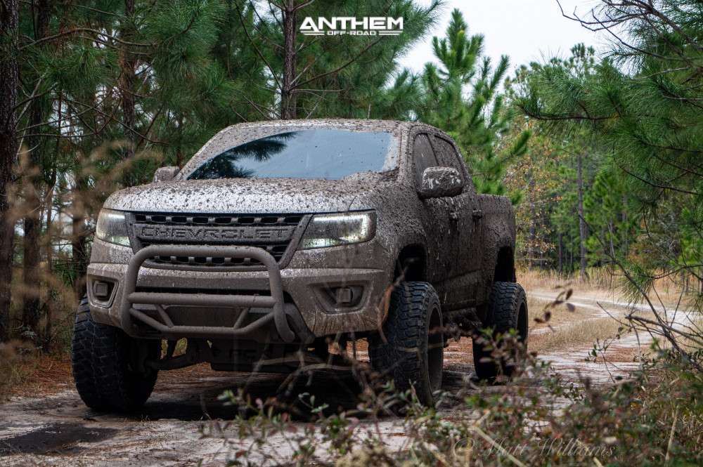 6 2016 Colorado Chevrolet Rough Country Suspension Lift 6in Anthem Off Road Avenger Machined Black