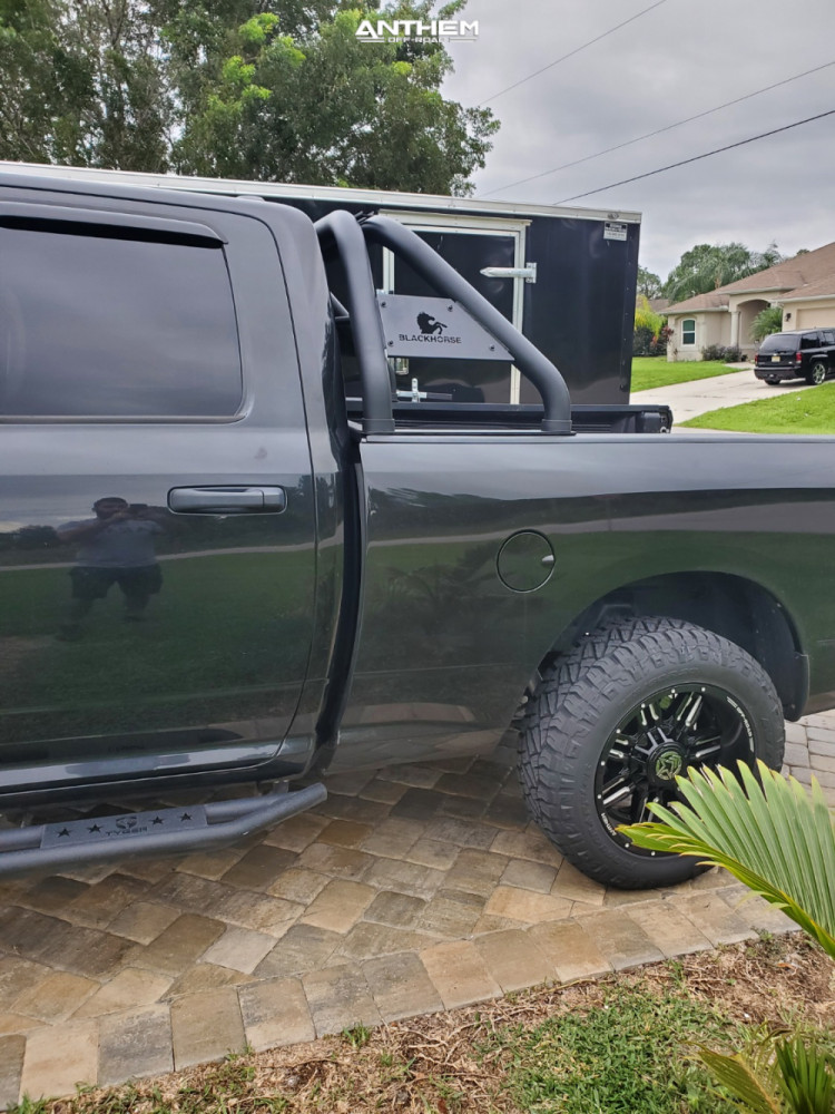 4 2016 1500 Ram Rough Country Suspension Lift 3in Anthem Off Road Defender Black