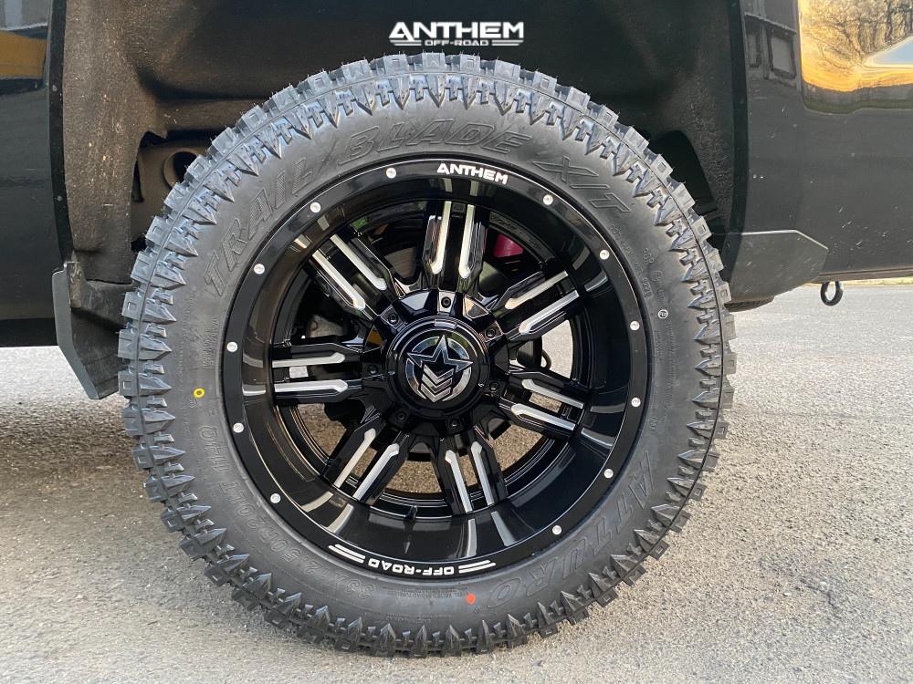 10 2018 Silverado 1500 Chevrolet Rough Country Leveling Kit Anthem Off Road Equalizer Black