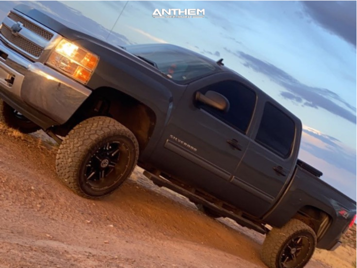 1 2013 Silverado 1500 Chevrolet Rough Country Suspension Lift 6in Anthem Off Road Equalizer Black