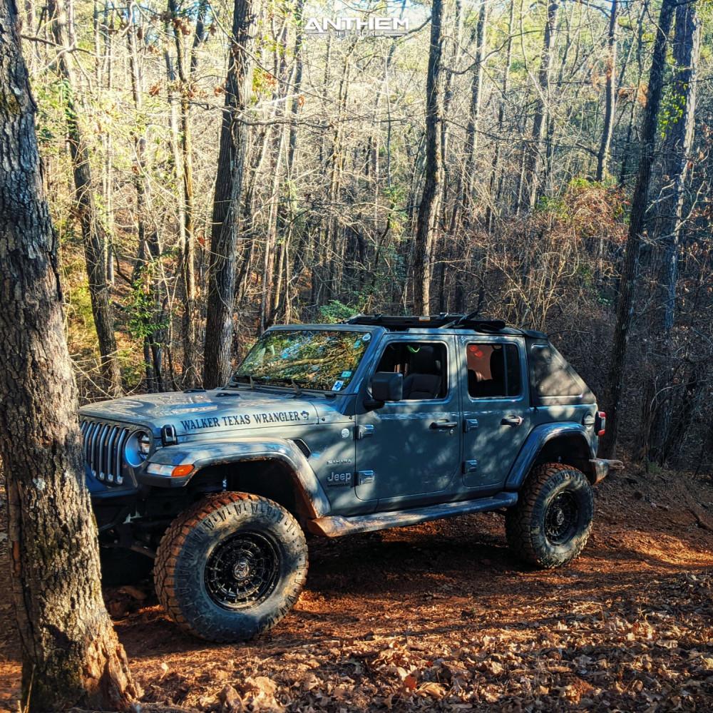 13 2018 Wrangler Jeep Unlimited Sahara Teraflex Suspension Lift 25in Anthem Off Road Viper Satin Black