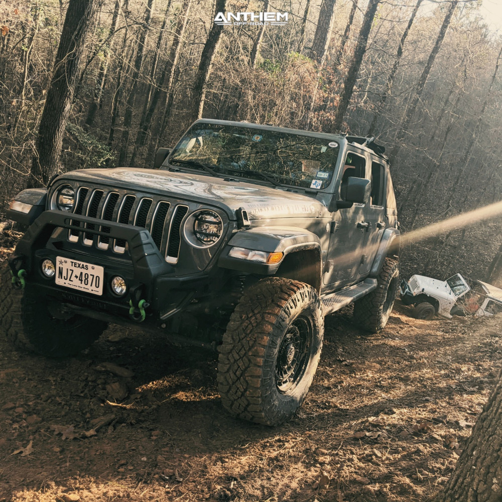 14 2018 Wrangler Jeep Unlimited Sahara Teraflex Suspension Lift 25in Anthem Off Road Viper Satin Black