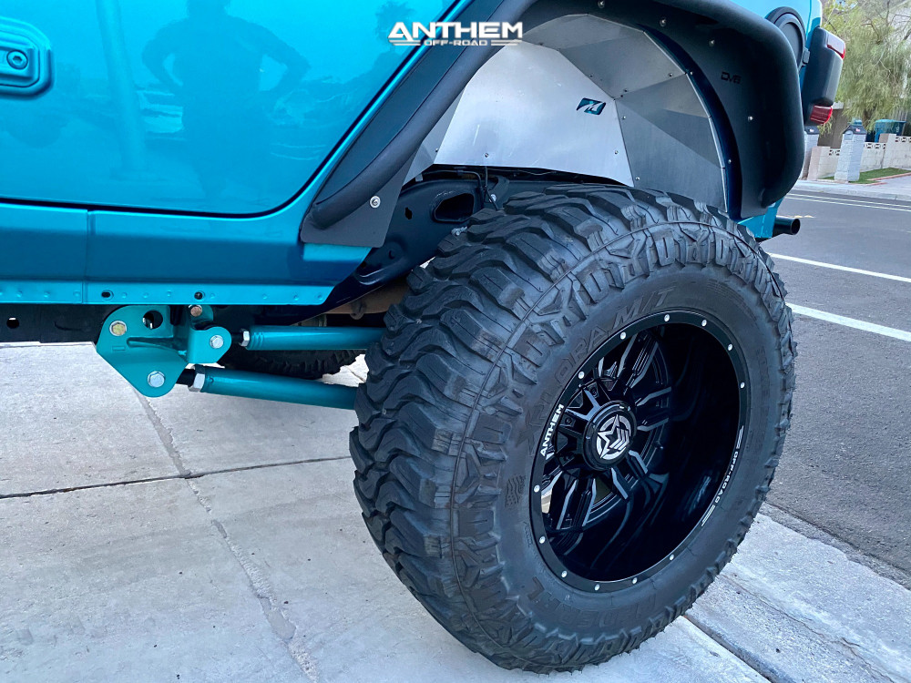 10 2020 Wrangler Jeep Unlimited Sport Rough Country Suspension Lift 6in Anthem Off Road Equalizer Machined Black