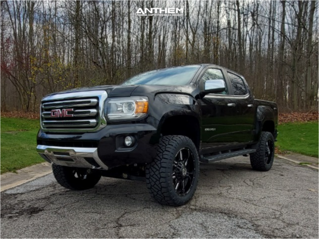 1 2016 Canyon Gmc Rough Country Suspension Lift 4in Anthem Off Road Equalizer Machined Black