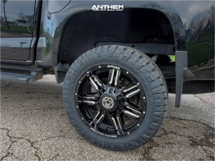 13 2016 Canyon Gmc Rough Country Suspension Lift 4in Anthem Off Road Equalizer Machined Black