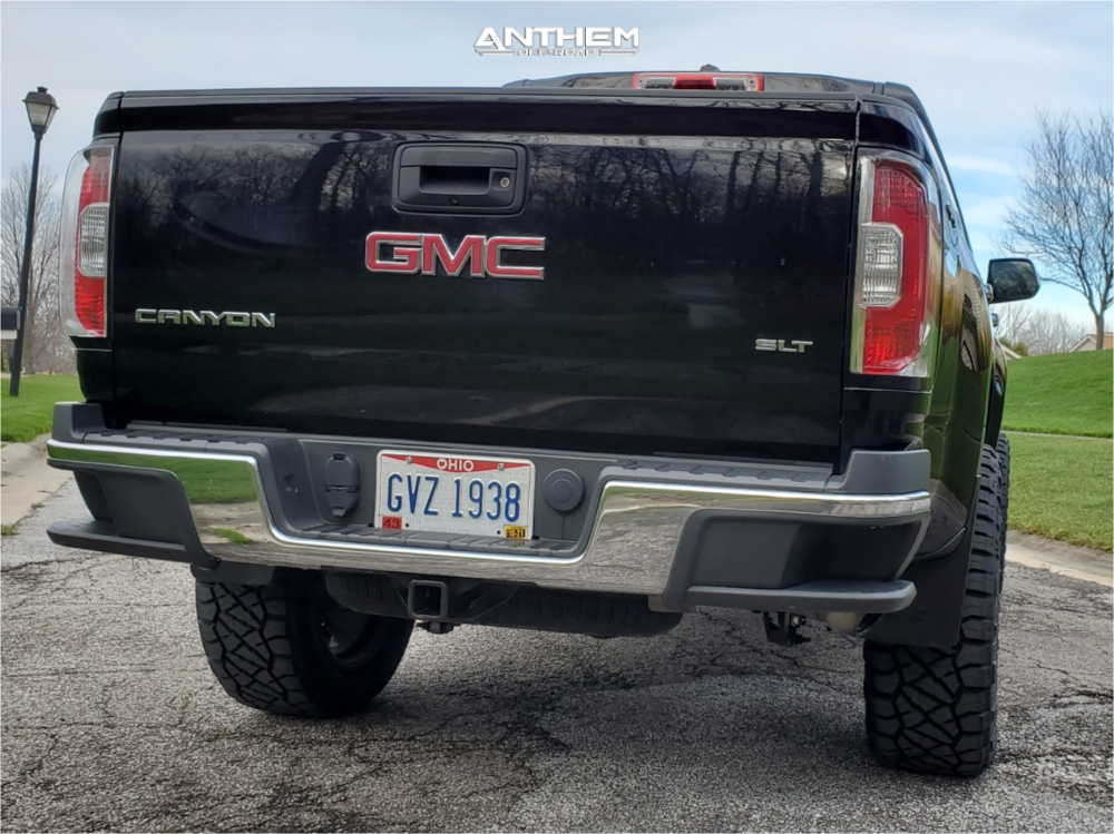 3 2016 Canyon Gmc Rough Country Suspension Lift 4in Anthem Off Road Equalizer Machined Black