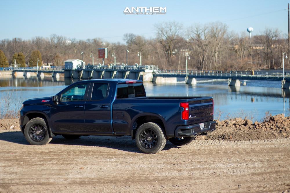 4 2021 Silverado 1500 Chevrolet Stock Air Suspension Anthem Off Road Liberty Black
