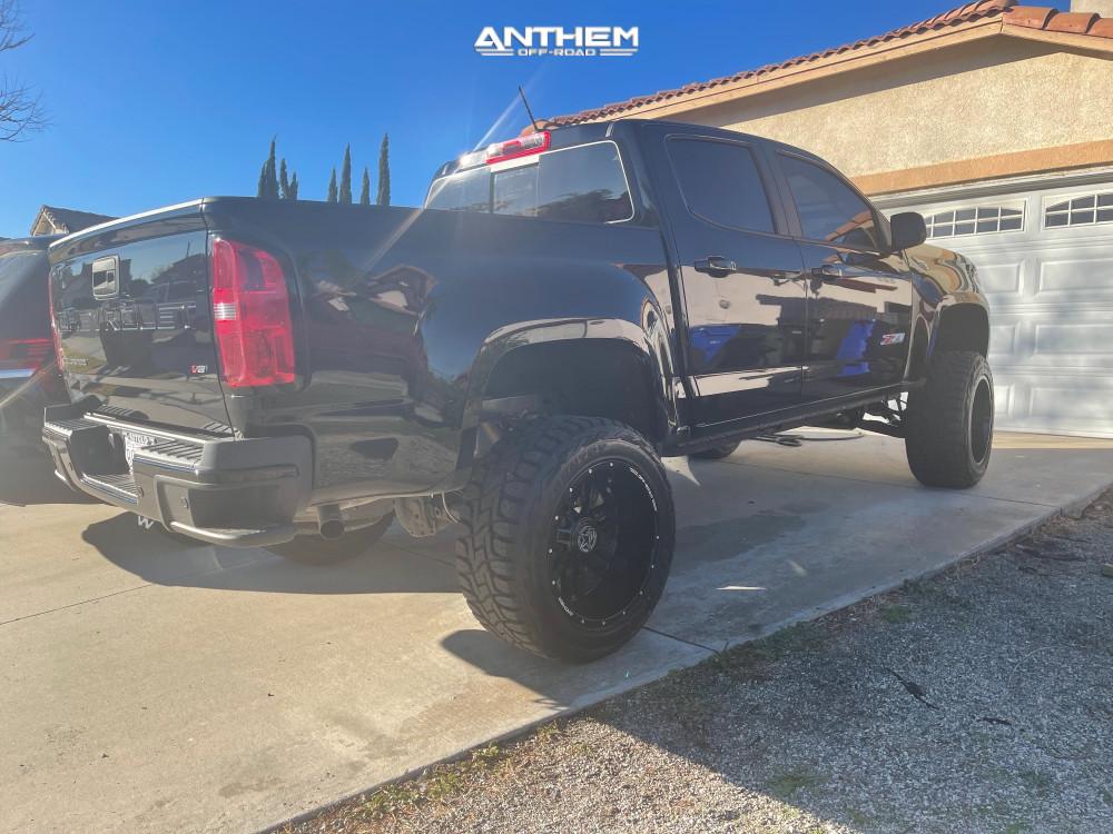 4 2021 Colorado Chevrolet Rough Country Air Suspension Anthem Off Road Equalizer Black