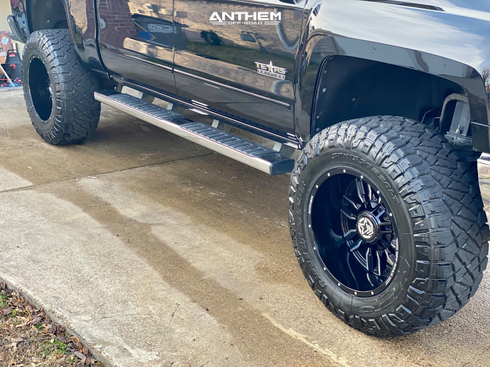 12 2015 Silverado 1500 Chevrolet Rough Country Suspension Lift 7in Anthem Off Road Equalizer Black