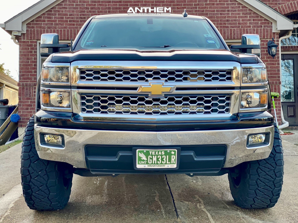 2 2015 Silverado 1500 Chevrolet Rough Country Suspension Lift 7in Anthem Off Road Equalizer Black