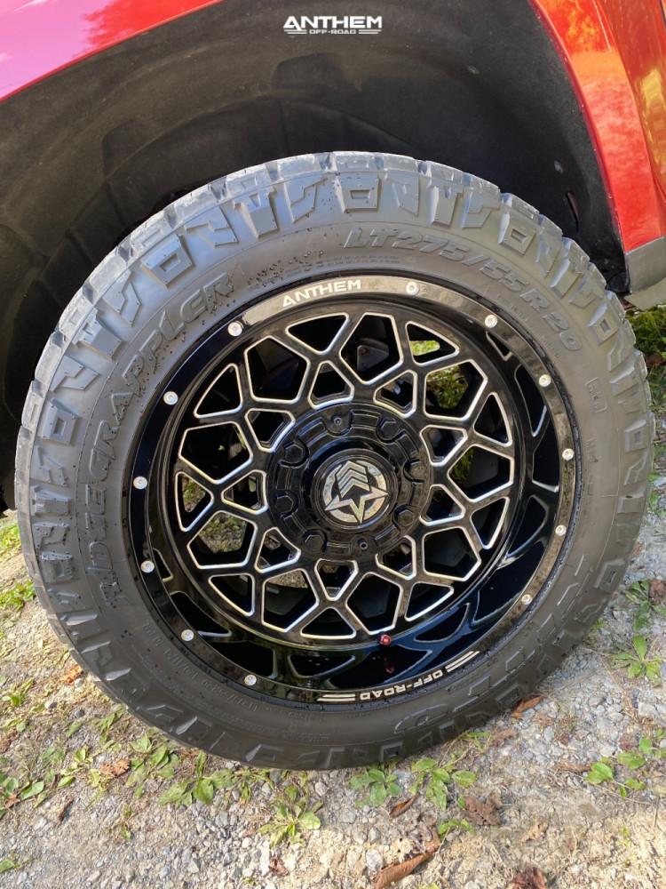 8 2015 Colorado Chevrolet 2 Inch Level Leveling Kit Anthem Off Road Avenger Machined Black