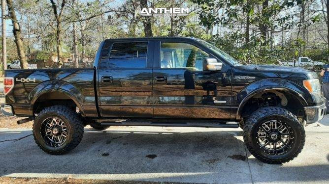 13 2013 F 150 Ford Rough Country Suspension Lift 6in Anthem Off Road Gunner Black