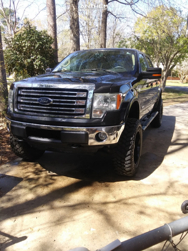 15 2013 F 150 Ford Rough Country Suspension Lift 6in Anthem Off Road Gunner Black