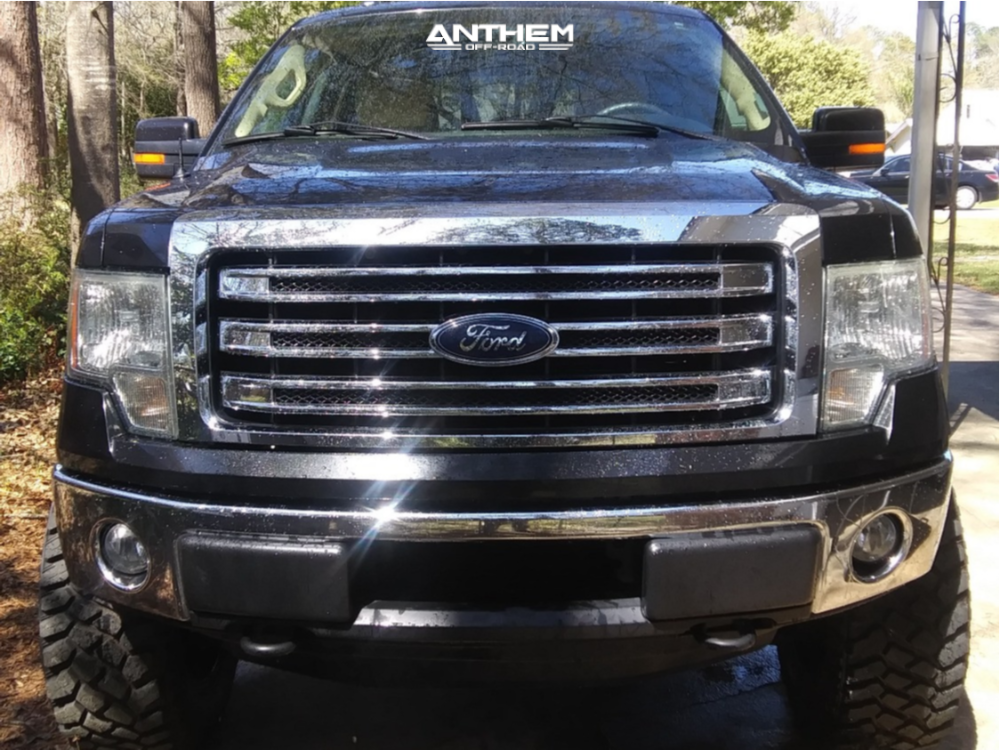 2 2013 F 150 Ford Rough Country Suspension Lift 6in Anthem Off Road Gunner Black Milled